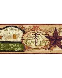 Latrine Red Good Life Signs Border by
