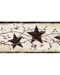 George Cream Tin Star Trail Border by