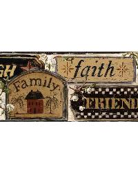Penny White Loving Signs Portrait Border by