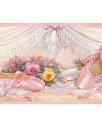 Eloise Pink Ballet Slippers Portrait Border by