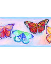 Samantha Blue Butterfly Breeze Trail Border by