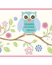 Winnie Pink Wise Owlets Trail Border by