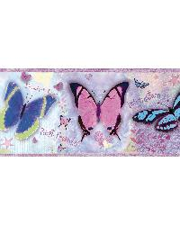 Kingston Purple BFF Butterflies Toss Border by