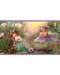 Esmeralda Blue Fairyland Portrait Border by