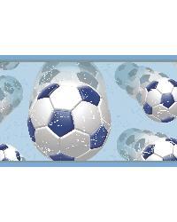 Beckham Blue Soccer Ball Motion Border by