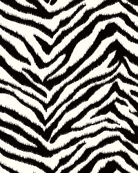 Mia Black Faux Zebra Stripes Wallpaper by  Brewster Wallcovering