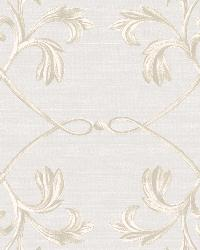 April Light Grey Acanthus Lattice Wallpaper by