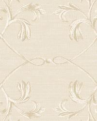 April Silver Acanthus Lattice Wallpaper by