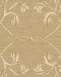 April Brown Acanthus Lattice Wallpaper by