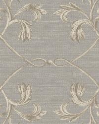 April Charcoal Acanthus Lattice Wallpaper by