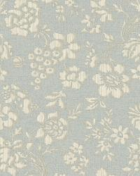 Stria Blue Floral Toss Wallpaper by