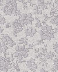 Stria Violet Floral Toss Wallpaper by