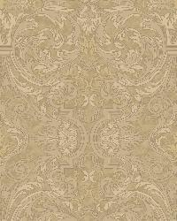 Guinevere Sand Baroque Marquetry Wallpaper by