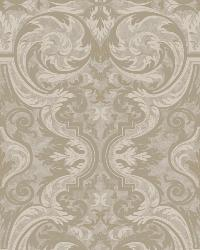 Guinevere Grey Baroque Marquetry Wallpaper by