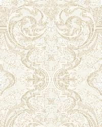 Guinevere Storm Baroque Marquetry Wallpaper by