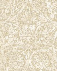 Bali Beige Damask Wallpaper by