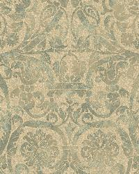 Bali Green Damask Wallpaper by