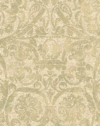 Bali Yellow Damask Wallpaper by