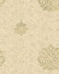 Meadow Yellow Medallion Wallpaper by