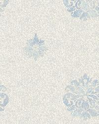 Meadow Blue Medallion Wallpaper by