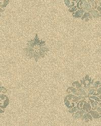 Meadow Green Medallion Wallpaper by