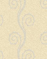 Vortex Yellow Modern Trail Wallpaper by
