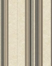 Poppy Black Baroque Stripe Wallpaper by