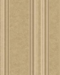 Poppy Sand Baroque Stripe Wallpaper by