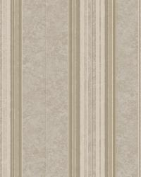 Poppy Grey Baroque Stripe Wallpaper by