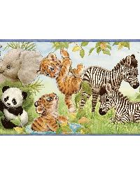 Flemming Green Jungle Pals Portrait Border by