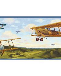 Chester Green Biplanes Portrait Border  by