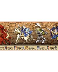 Lancelot Red Dragon Time Portrait Border  by