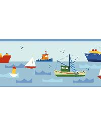 Skuttle Blue Fun Harbor Portrait Border by