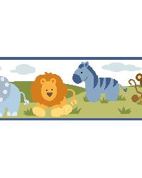 Izzie White Jungle Safari Portrait Border  by