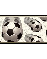 Beckham Black Soccer Motion Portrait Border by