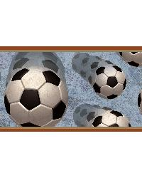 Beckham Orange Soccer Motion Portrait Border  by
