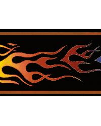 Rad Brown Flames Trail Border  by