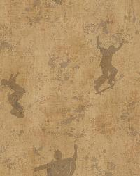 Sheen Brown Skaters Toss Wallpaper by