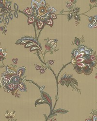 Quinn Bronze Jacobean Trail by  Brewster Wallcovering