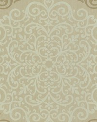Cassidy Bronze Medallion Damask by