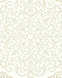Cassidy Cream Medallion Damask by