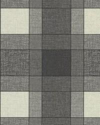 Kieran Black Wool Plaid by