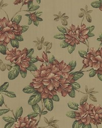 Bree Burnt Sienna Lily Trail by  Brewster Wallcovering