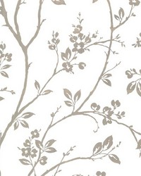 Kassidy Silver Dogwood Trail by  Brewster Wallcovering