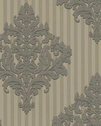 Rowan Pewter Damask Stripe by