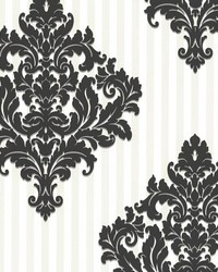 Rowan Black Damask Stripe by