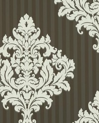 Rowan Chocolate Damask Stripe by