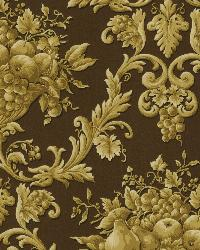 Marta Brown Orchard Ogee Wallpaper by  Brewster Wallcovering