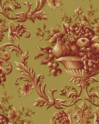 Marta Rust Orchard Ogee Wallpaper by  Brewster Wallcovering
