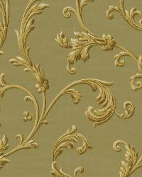 Sylvia Sage Ornate Scroll Wallpaper by  Brewster Wallcovering